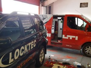 Van Locks Slam Locks Fitted Hilti